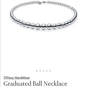Tiffany Graduated Bead Necklace, Sterling Silver